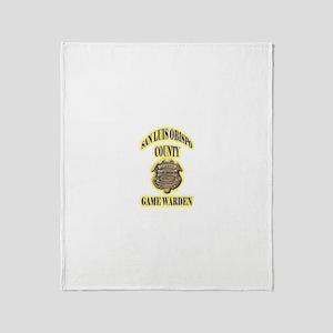 San Louis Obispo Warden Throw Blanket
