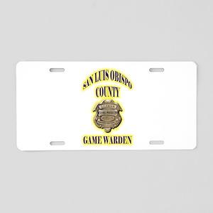 San Louis Obispo Warden Aluminum License Plate