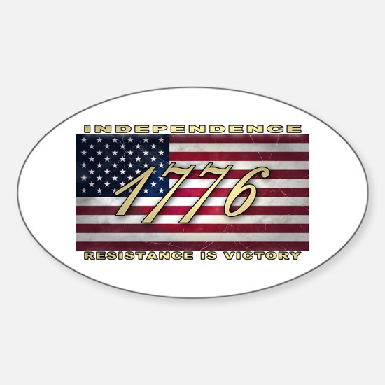 American Flag (1776) Sticker (Oval)