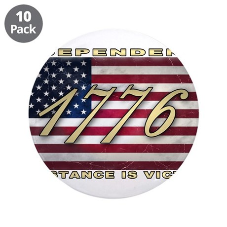 """American Flag (1776) 3.5"""" Button (10 pack)"""