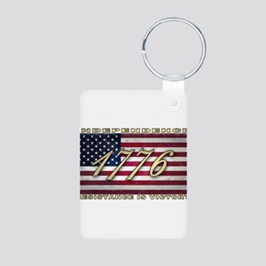 American Flag (1776) Aluminum Photo Keychain