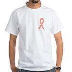 Peach Ribbon White T-Shirt