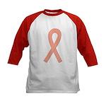 Peach Ribbon Kids Baseball Jersey