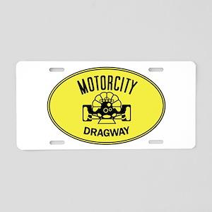 MotorCity Dragway Aluminum License Plate