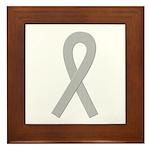 Gray Ribbon Framed Tile