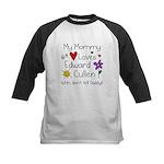 Mommy Shh Kids Baseball Jersey