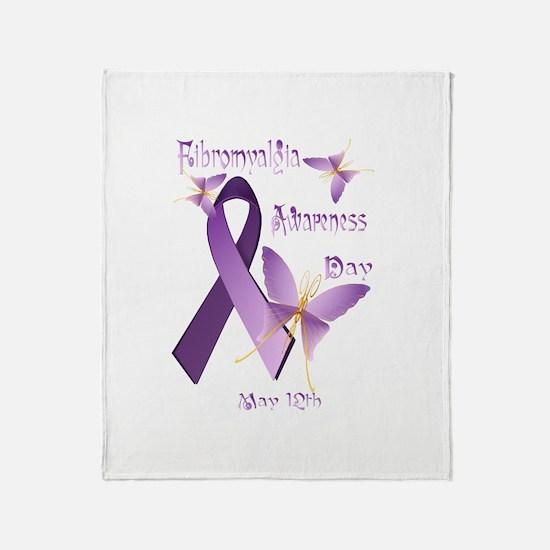 Fibromyalgia Awareness Day Throw Blanket