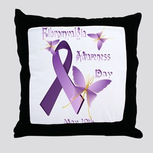 Fibromyalgia Awareness Day Throw Pillow
