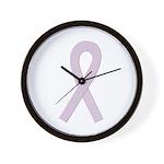 Orchid Ribbon Wall Clock