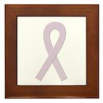Orchid Ribbon Framed Tile