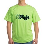 Blue Ninja Logo Green T-Shirt