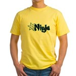 Blue Ninja Logo Yellow T-Shirt