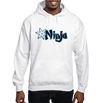 Blue Ninja Logo Hooded Sweatshirt