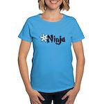 Blue Ninja Logo Women's Dark T-Shirt