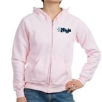 Blue Ninja Logo Women's Zip Hoodie