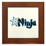 Blue Ninja Logo Framed Tile