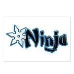 Blue Ninja Logo Postcards (Package of 8)