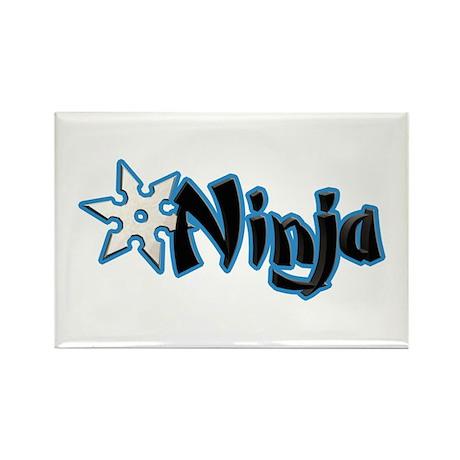 Blue Ninja Logo Rectangle Magnet (100 pack)