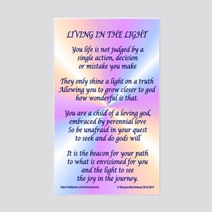 Living In The Light Sticker (Rectangle)