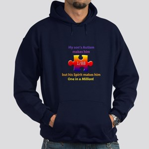 1 in Million (Son w Autism) Dark Hoodie