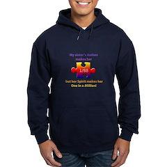 1 in Million (Sister w Autism) Dark Hoodie