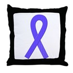 Periwinkle Ribbon Throw Pillow