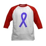 Periwinkle Ribbon Kids Baseball Jersey