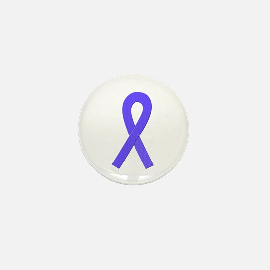 Periwinkle Ribbon Mini Button
