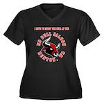 No Bull 7 Women's Plus Size V-Neck Dark T-Shirt