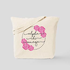 Alpha Chi Omega Floral Circle Tote Bag
