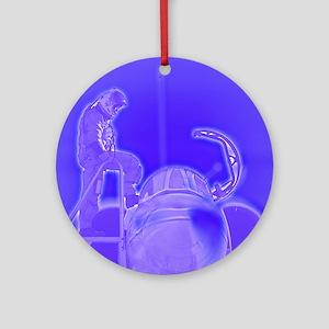 Blue Preflight Ornament (Round)