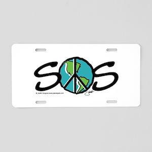 EARTH SOS design by Judith Go Aluminum License Pla