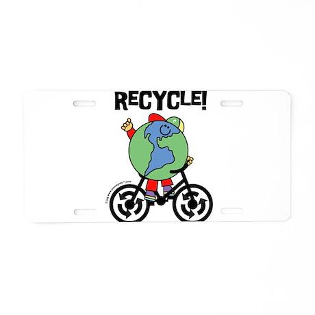 Planetpals Earthman RE-CYCLEs Aluminum License Pla