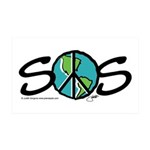 EARTH SOS design by Judith Go 38.5 x 24.5 Wall Pee