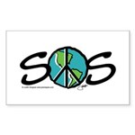 EARTH SOS design by Judith Go Sticker (Rectangle 1