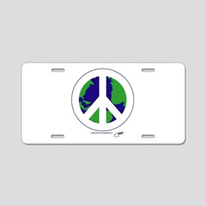 World Peace Peace Sign Aluminum License Plate