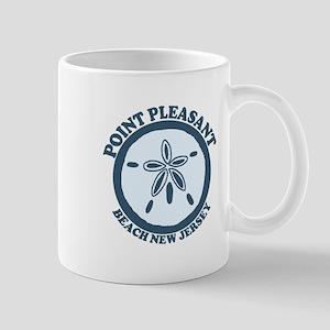 Point Pleasant Beach NJ - Sand Dollar Design Mug