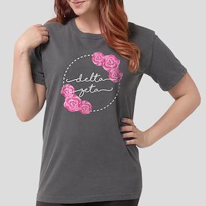 Delta Zeta Floral Womens Comfort Colors Shirt