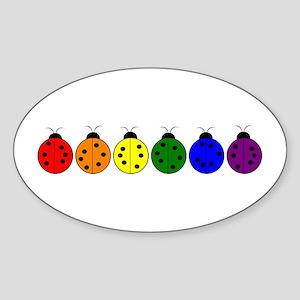 Pride Bugs Oval Sticker