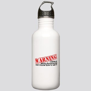 Warning Stainless Water Bottle 1.0L