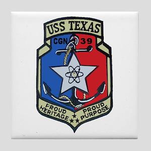 USS Texas CGN 39 Tile Coaster