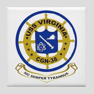 USS Virginia CGN 38 Tile Coaster