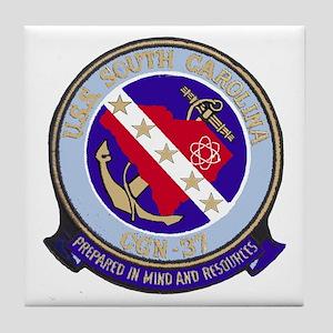 USS South Carolina CGN 37 Tile Coaster