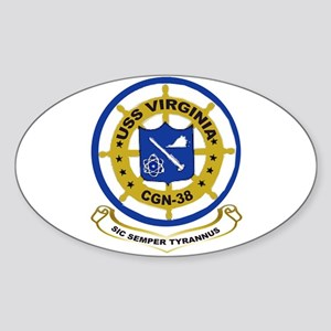 USS Virginia CGN 38 Oval Sticker