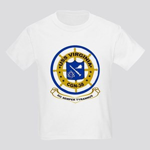 USS Virginia CGN 38 Kids T-Shirt