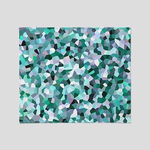 Turquoise Mosaic Pattern Throw Blanket