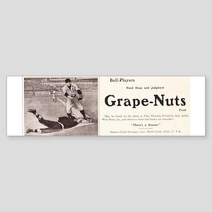 1909 Grape-Nuts Baseball Ad Sticker (Bumper)