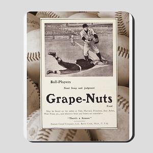 1909 Grape-Nuts Baseball Ad Mousepad