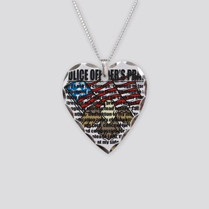 POLICE OFFICER'S PRAYER Necklace Heart Charm