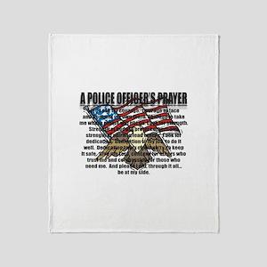POLICE OFFICER'S PRAYER Throw Blanket